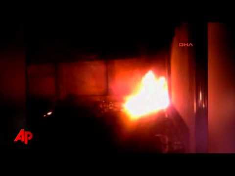 Amateur Video Shows Bin Laden Home in Flames