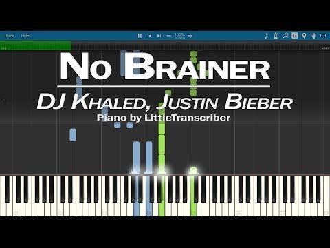 DJ Khaled - No Brainer (Piano Cover) ft Justin Bieber, Chance the Rapper, Quavo by LittleTranscriber