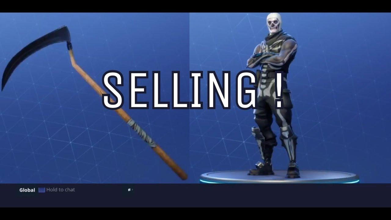 Selling Ps4 Fortnite Account Skull Trooper Reaper Axe Youtube