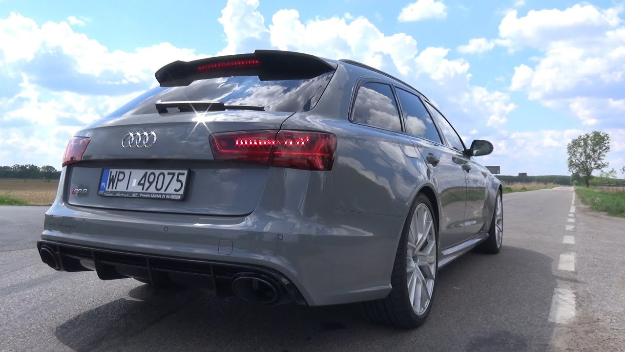 2016 audi rs6 performance exhaust sound engine sound acceleration sound youtube. Black Bedroom Furniture Sets. Home Design Ideas
