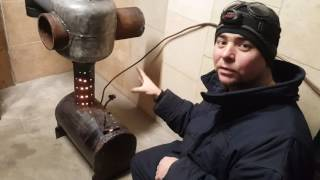 Печь на отработке, отопление гаража. Часть 1. Супер!