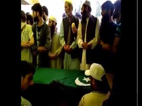 People attend the funeral prayers of slain militant Nissar Ahmad bhat. JKNO
