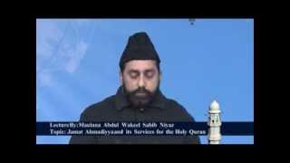 Jalsa Salana Qadian 2012 Maulana Abdul Wakeel Niyaz during his speech