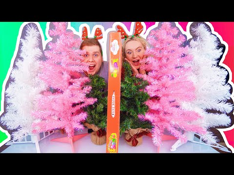 ТЕЛЕПАТИЯ НОВОГОДНЯЯ ЁЛКА ЧЕЛЛЕНДЖ 🎄 Twin Telepathy Christmas Tree Challenge