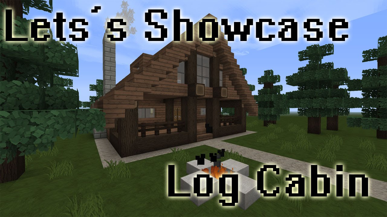 Minecraft Log Cabin ~ Minecraft simple log cabin mini showcase youtube