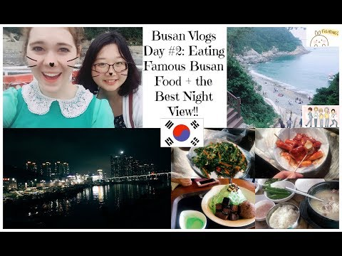 Busan Vlogs Day #2: Famous Busan Food + Best Night View Ever!