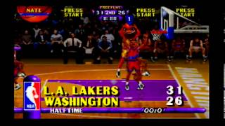 NBA Hangtime (N64) Game #13 of 29 - Lakers (Me) vs. Bullets (CPU)