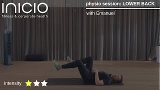 physio session: LOWER BACK
