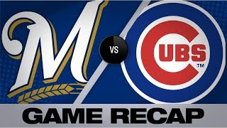 Castellanos belts 2 homers in Cubs' 7-1 win | Brewers-Cubs Game Highlights 8/30/19