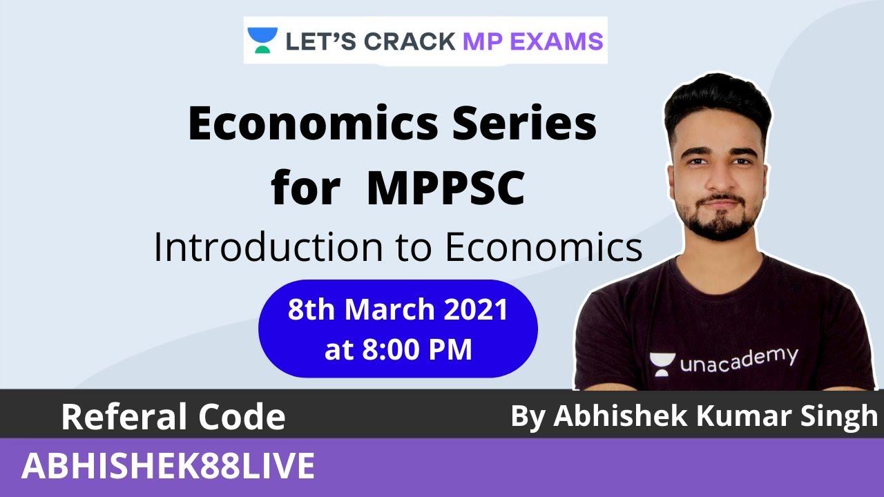 Download Economics   Introduction to Economics   MPPSC & VYAPAM  Abhishek Singh
