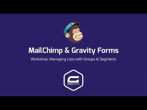 Mailchimp Gravity Forms Managing Lists With Groups Segments