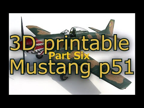 PART 6/10, 3D printable Mustang p51 design in Fusion 360. How I designed the wing inner structure