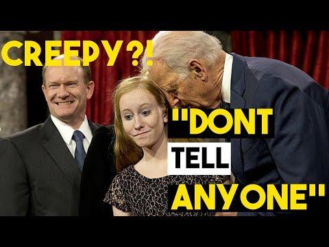 Creepy Uncle Joe Can't Control Himself