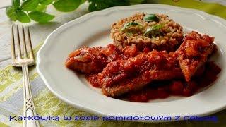 Karkówka w sosie pomidorowym z cebulą - TalerzPokus.tv