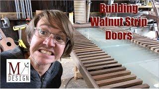 Building Walnut Strip Doors // Woodworking How To