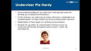 Webinar om notat- og referatteknik v/ Pia Hardy, Fortuna Kurser