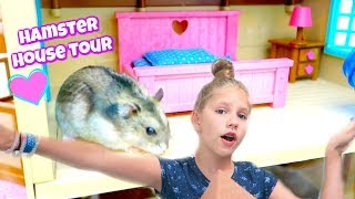 HAMSTER HOUSE TOUR! Hamsters Tour the Lil Woodzeez House
