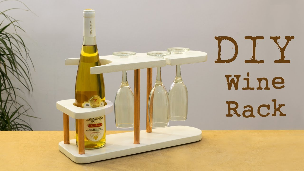 Diy Copper And Wood Wine Rack You