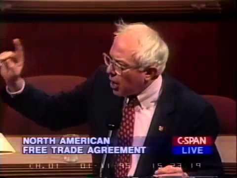 Bernie Sanders: Repeal NAFTA (1/11/1995)