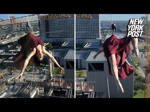 mackin - Woman Rope Dances Off Building 17 Floors Up