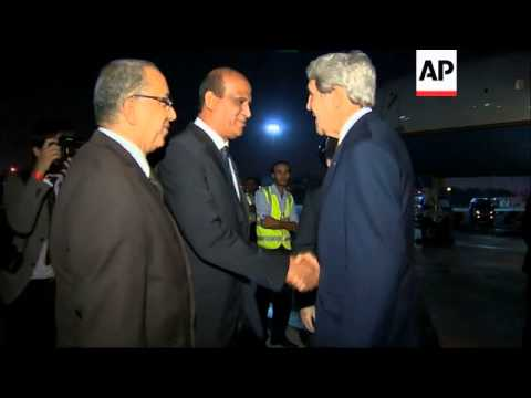 US Secretary of State John Kerry arrives back in Cairo