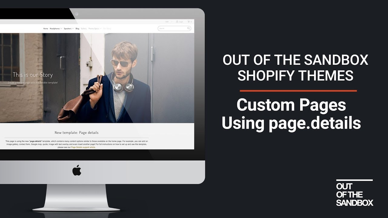 Out Of The Sandbox Custom Pages With Pagedetails YouTube - Shopify custom page template