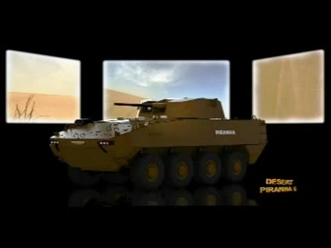 General Dynamics European Land Systems - Desert Piranha 5 Armoured Multi-Role Wheeled Vehicle [480p]