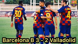 Barcelona b beat valladolid promesas to reach the semifinals of promotion play off second divison a., 📍 finaaaaaaaaaal, 🏆 play-off d'ascens a 2a, ✔️ primera eliminatòria, ⚽️ barça - ...