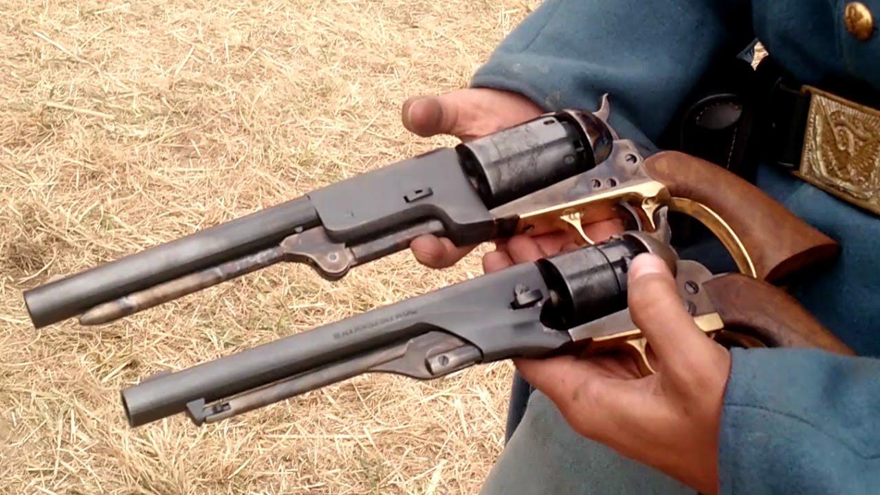Colt Walker VS Colt Army VS 1858 Remington - 1st Minn Sharpshoooters