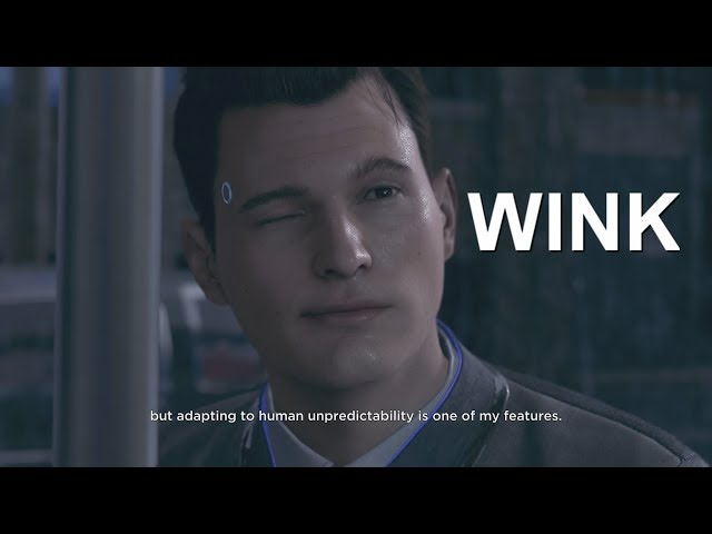 DETROIT BECOME HUMAN - Connor *WINK* OMG XD