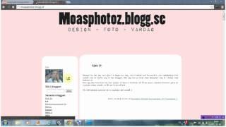 hur man gör en tvådelad header till blogg.se