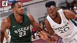 Milwaukee Bucks vs Minnesota Timberwolves - Full Game Highlights | July 8, 2019 NBA Summer League