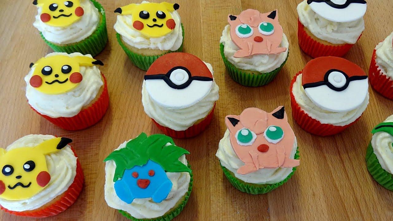 Pokemon Cupcake Cake