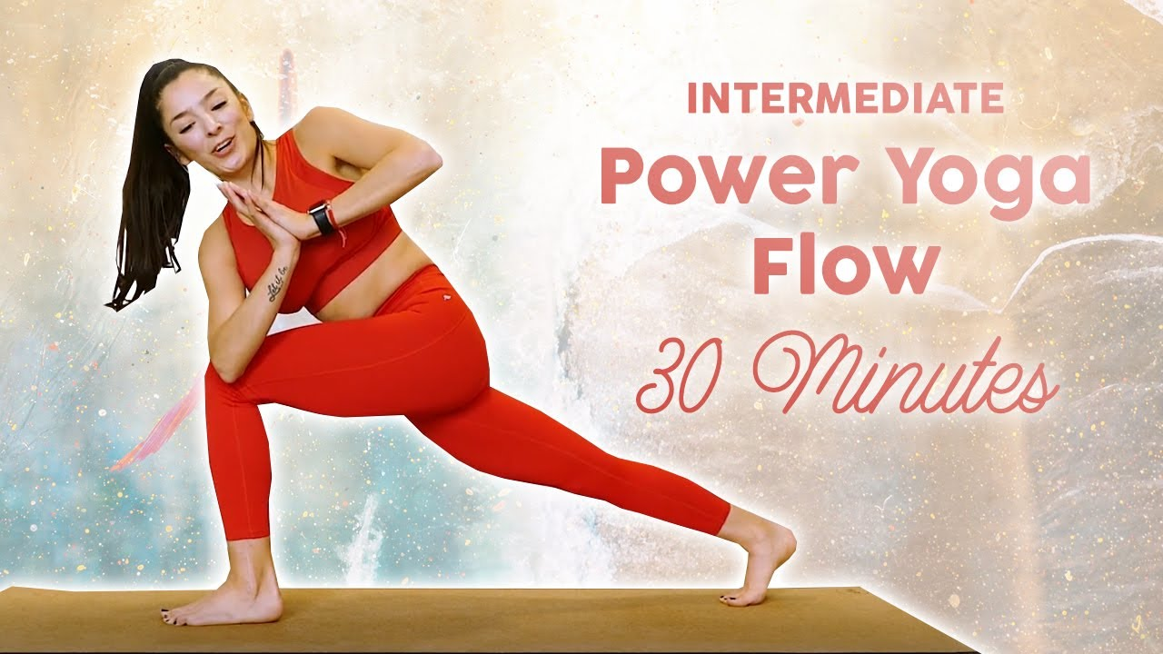 Intermediate Power Yoga for Weight Loss & Strength, Total Body Workout Upper Body