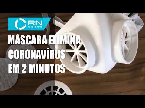 Máscara promete eliminar coronavírus em 2 minutos