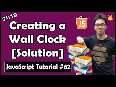 Creating a Clock: Exercise 6 Solution | JavaScript Tutorial In Hindi #62 thumbnail