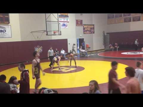 Tyler Championship match at Brush Middle School Invitational