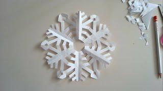 Kar Tanesi / Sanatın Renkleri / Krigami Sanatı