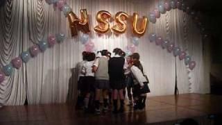 日本体育大学女子短期大学部体育科の謝恩会の余興のために全身全霊を懸...