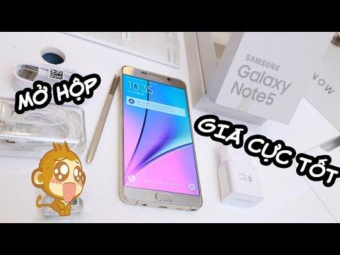 Mở hộp Samsung Galaxy Note 5 trôi bảo hành, có thể đút ngược bút và  giá cực tốt