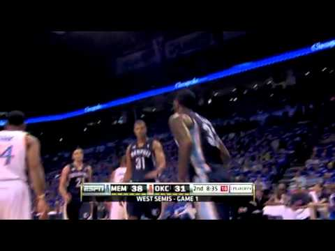 NBA Playoffs 2011: Memphis Grizzlies Vs OKC Thunder Game 1 Highlights