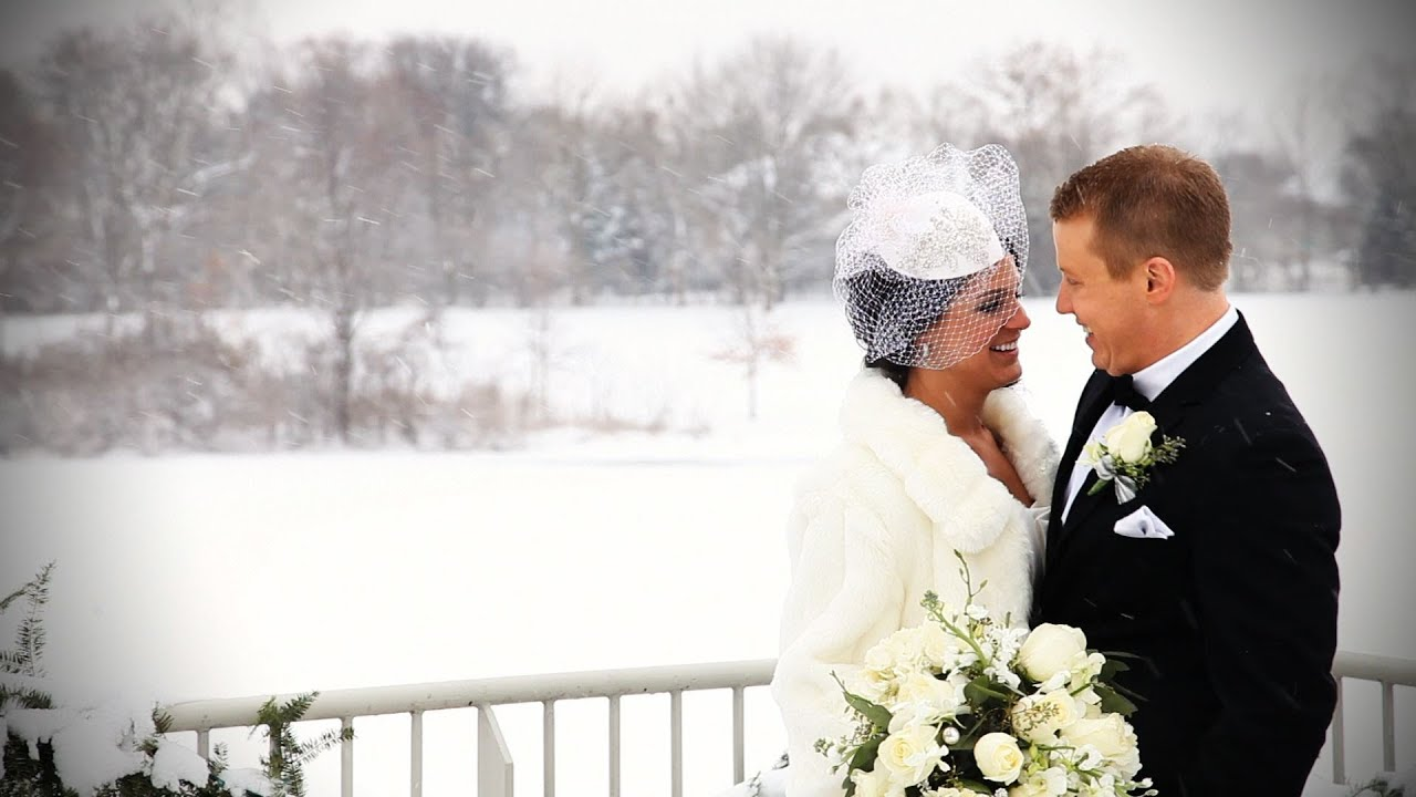 7d9fcb00950e Beautiful Winter Wedding in Hinsdale, Illinois - YouTube