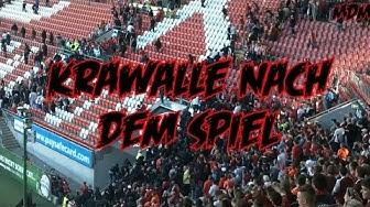 1. FC Kaiserslautern - Karlsruher SC - Kompletten Ausschreitungen nach dem Spiel - 4.10.2014