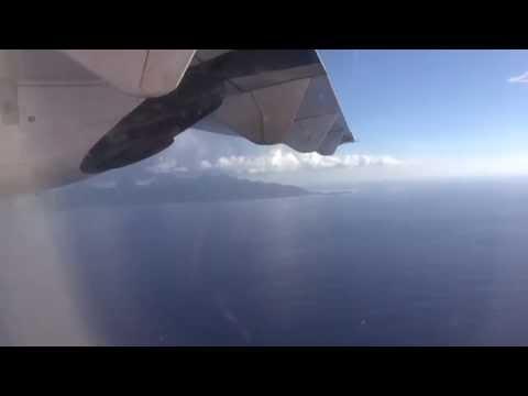 Air Tahiti, landing Moorea Island, French Polynesia