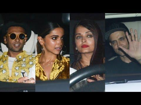 Aishwarya Rai Bachchan, Deepika Padukone, Ranveer Singh At Shah Rukh Khan's Grand Bash At Mannat