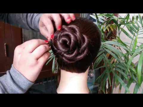 juda-hairstyle-for-wedding/party-||-quick-&-cutehairstyle-girl-||-perfect-bridal-bun-step-by-step