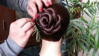 Juda hairstyle for Wedding/party || Quick & CuteHairstyle Girl || Perfect Bridal Bun step by step