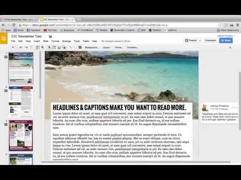 Google Slides for Desktop Publishing