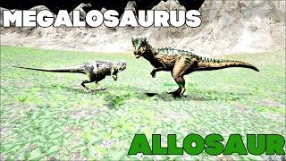 Битва в АРК | Мегалозавр против Аллозавр | Megalosaurus vs Allosaur