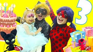 🐞My Birthday With Miraculous Ladybug and Cat Noir Theme Song Music Video🐞